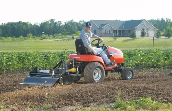 Legacy xl subcompact garden tractor mower simplicity for Garden implements list