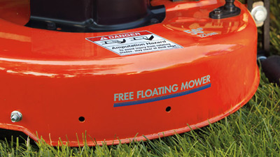 Simplicity free floating mower deck zoomed in