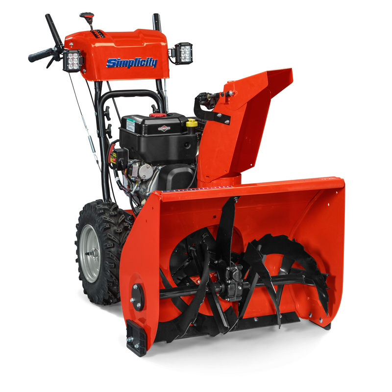 Angle view of signature two-stage snow blowers