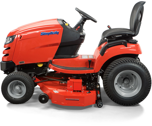 Simplicity tractor with Free Floating Mower deck