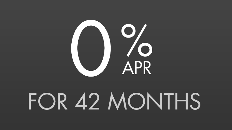 0% for 42 Months [0.37383% APR*]