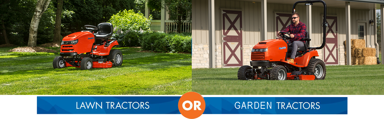 Simplicity regent lawn tractor versus a Simplicity Legacy garden tractor with attachments
