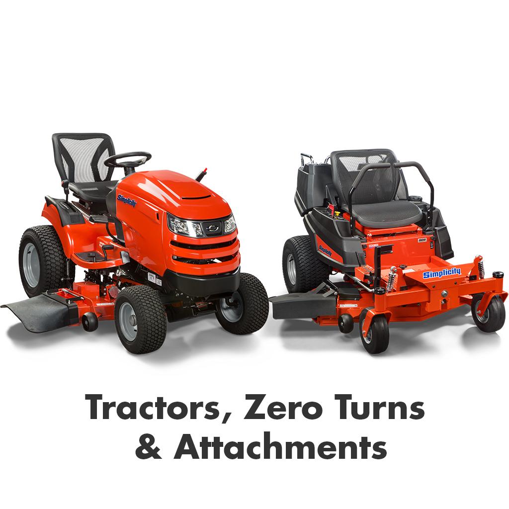 Tractors, Zero Turns & Attachments