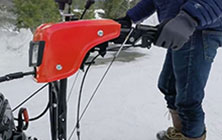 Dual-Trigger Steering on Simplicity Snow Blowers
