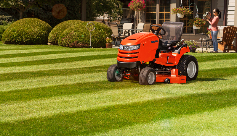 Striped Lawn with Simplicity mower